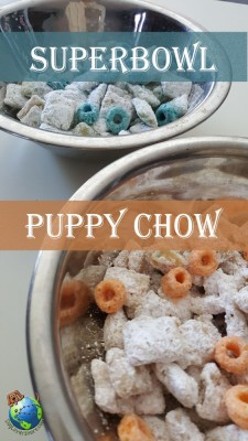 Super Bowl Themed Puppy Chow