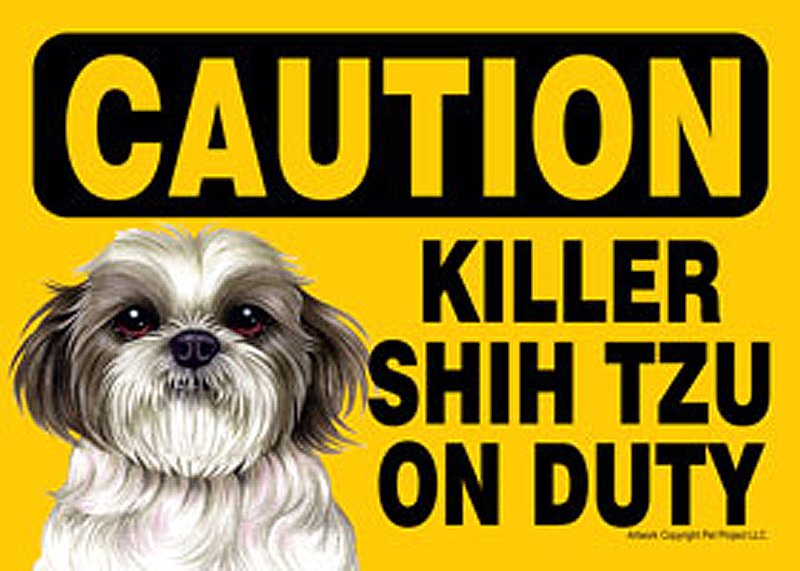 Killer Shih Tzu On Duty Dog Sign Magnet Velcro 5x7 Puppy Cut