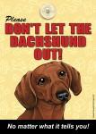 Dachshund Velcro Laminated Dog Sign
