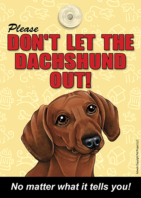 Dachshund Velcro Laminated Dog Sign