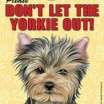 Yorkie Velcro Laminated Dog Sign