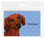Dachshund Red Dog Note Cards & Envelopes