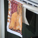 Afghan Hound Kitchen Hand Towel 1
