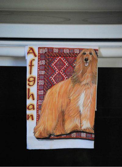 Afghan Hound Kitchen Hand Towel 2