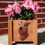 Airedale Planter Flower Pot 1