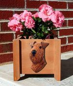 Airedale Planter Flower Pot