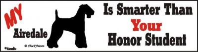 Airedale Terrier Smart Dog Bumper Sticker