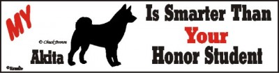 Akita Sticker – Smarter Than Your Honor Student
