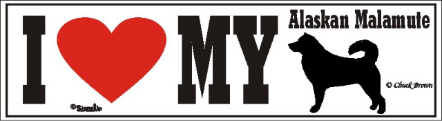 Alaskan Malamute Sticker - I Love My