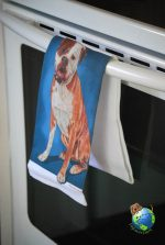 American Bulldog Kitchen Hand Towel