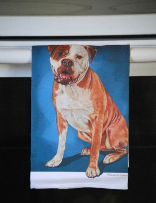 American Bulldog Kitchen Hand Towel 2