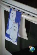 American Eskimo Kitchen Hand Towel