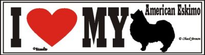 American Eskimo_dog_love_bumper_sticker
