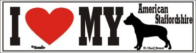 American Staffordshire_dog_love_bumper_sticker