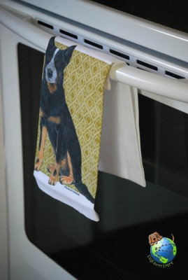 Australian Cattle Dog Kitchen Hand Towel 1