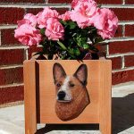 Australian Cattle Dog Planter Flower Pot Red 1