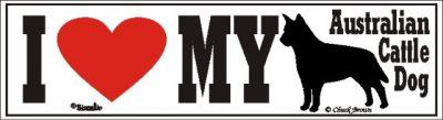 Australian Cattle Dog_dog_love_bumper_sticker