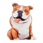 Bulldog Shaped Pillow