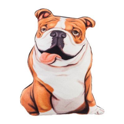 Bulldog Shaped Pillow