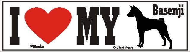 I Love My Basenji Dog Bumper Sticker