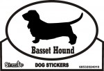 Basset Hound Sticker - Euro Bumper Sticker