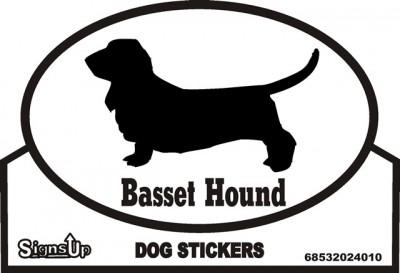 Basset Hound Sticker - Euro Bumper Sticker