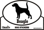 Beagle Dog Silhouette Bumper Sticker