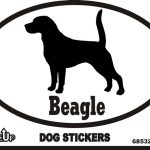 Beagle Dog Silhouette Bumper Sticker 1