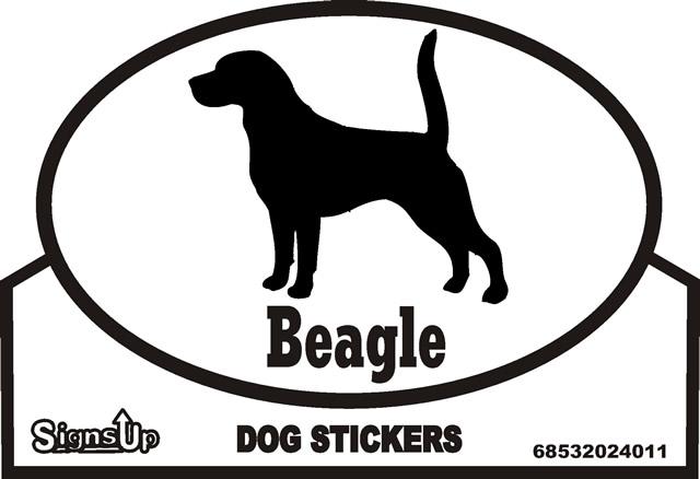 Beagle Dog Silhouette Bumper Sticker