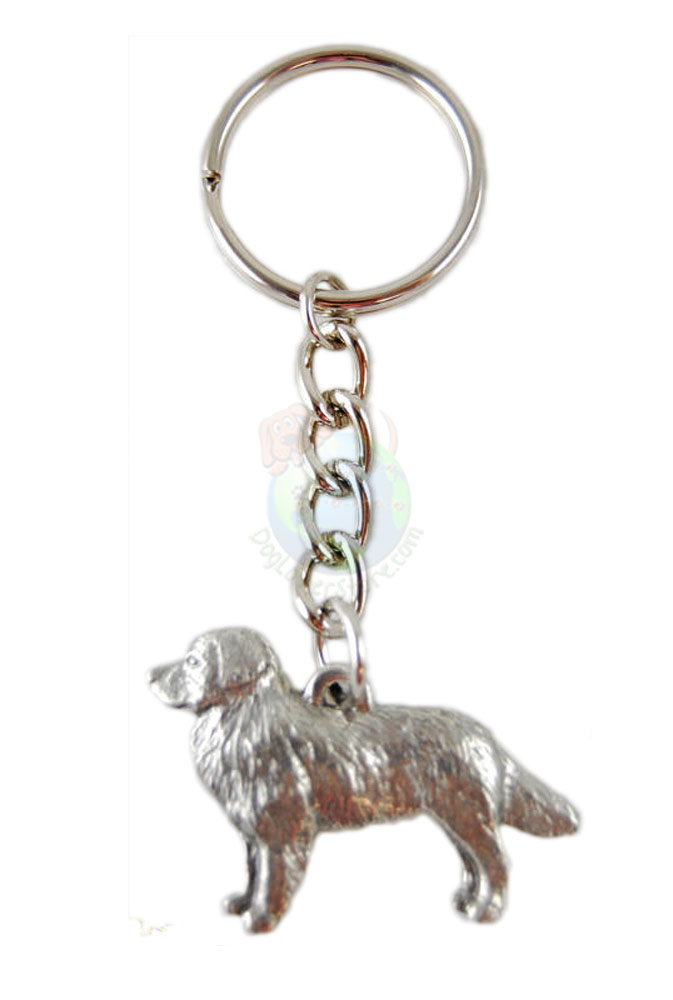 Bernese Mountain Dog Pewter Keychain