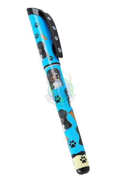 Bernese Mountain Dog Writing Pen Blue in Color