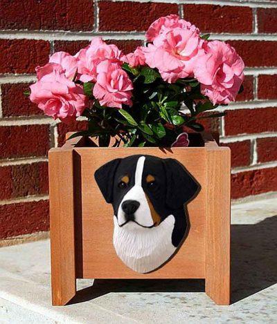 Bernese Mountain Dog Planter Flower Pot 1
