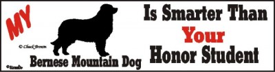 Bernese Mountain Dog Smarter Than Honor Bumper Sticker