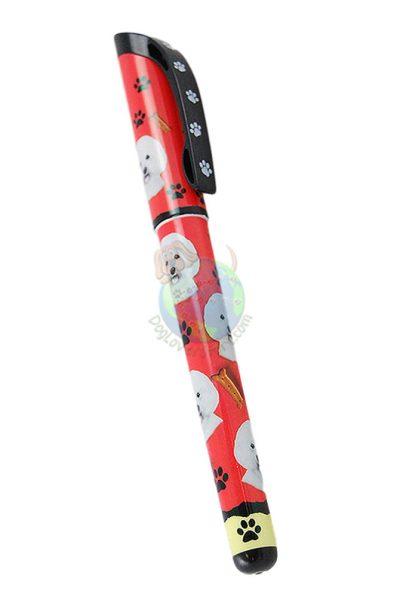 Bichon-Frise-Dog-Gel-Replaceable-Writing-Pen-Ballpoint-Black-Ink-181156158197