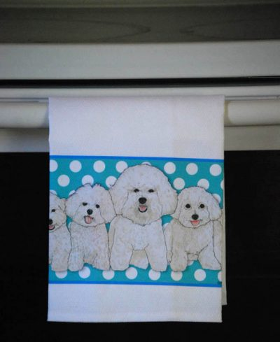 Bichon Frise Kitchen Hand Towel 2