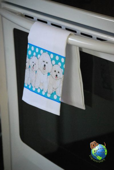 Bichon Frise Kitchen Hand Towel 1