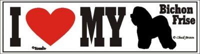 Bichon Frise_dog_love_bumper_sticker