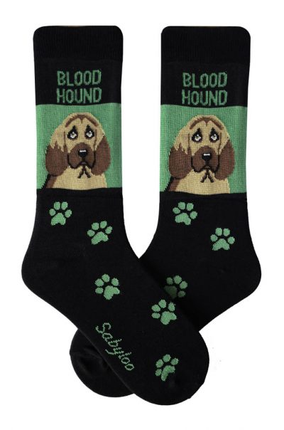 Bloodhound Socks Green in Color