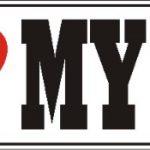 I Love My Bloodhound Dog Bumper Sticker 1