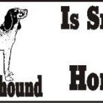 Bluetick Coonhound Dog Smarter Than Honor Bumper Sticker