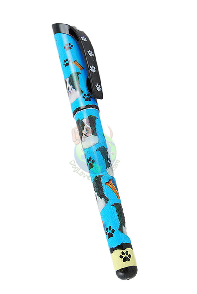 Border Collie Writing Pen Blue in Color