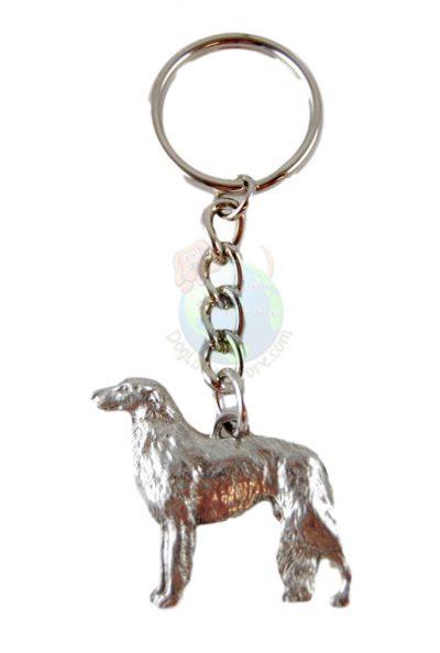 Borzoi-Dog-Fine-Pewter-Silver-Keychain-Key-Chain-Ring-400749497065