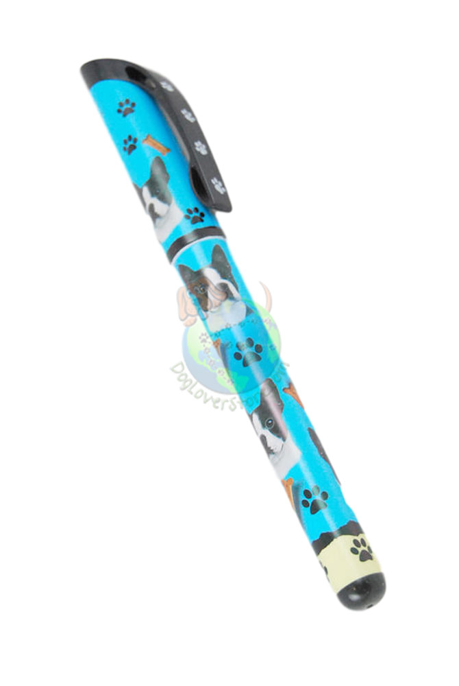 Boston Terrier Writing Pen Blue in Color