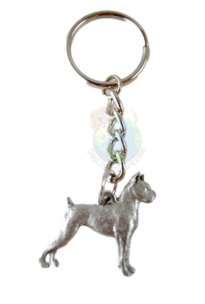 Boxer Pewter Keychain
