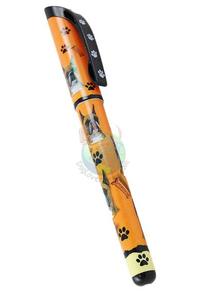 Boxer Cropped Writing Pen Orange in Color