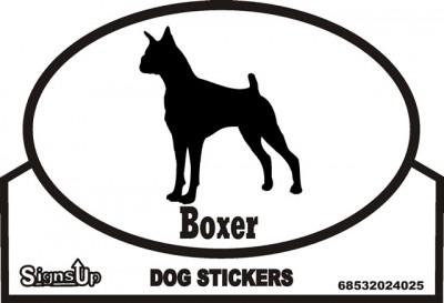 Boxer Dog Silhouette Bumper Sticker 1