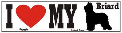 I Love My Briard Dog Bumper Sticker