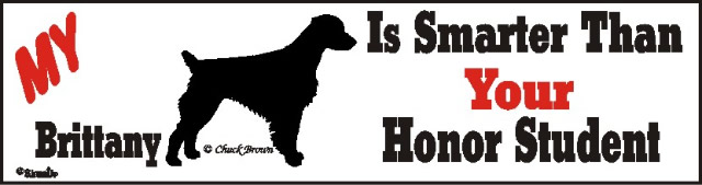 Brittany Smart Dog Bumper Sticker