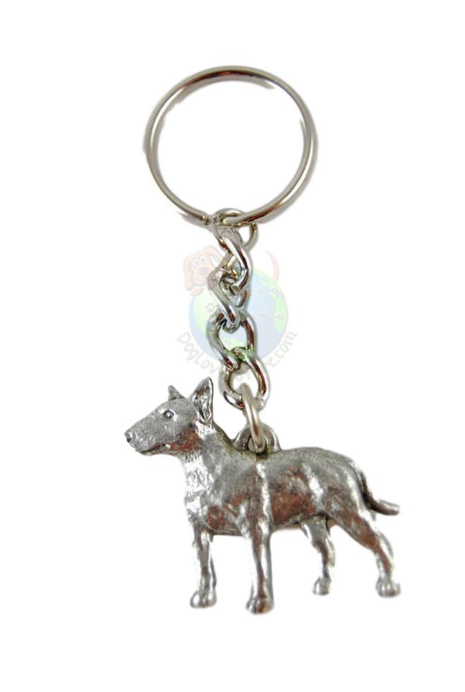 Bull Terrier Pewter Keychain