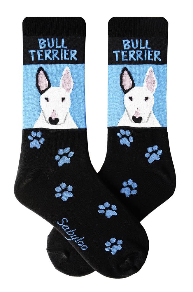 Bull Terrier White Socks Blue and Black in Color